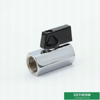 O interruptor de bronze fêmea dobro Mini Ball Valve With Nickel da válvula de gás de CW617N chapeou